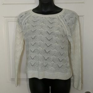Loft Cream Knit Sweater